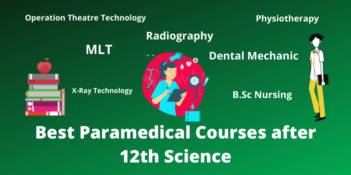Best Paramedical Courses list after 12th Science