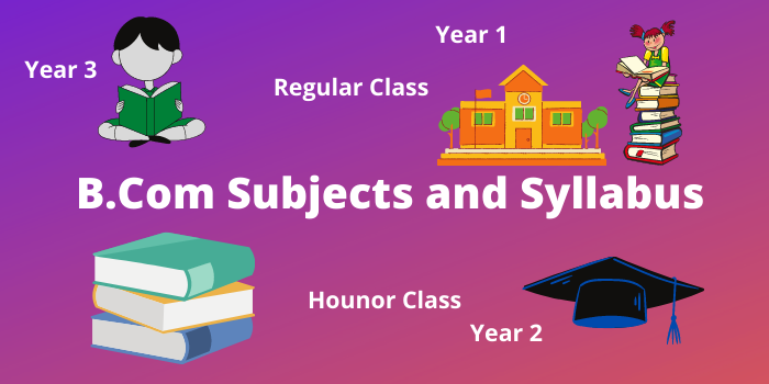 B.Com subjects list and syllabus, course duration