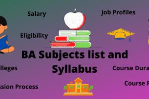 ba all subjects name list