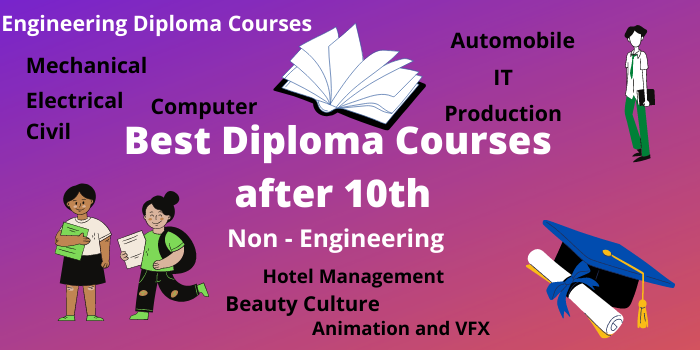 Best diploma courses list after 10th