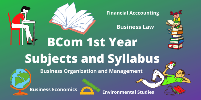 BCom subjects list and Syllabus