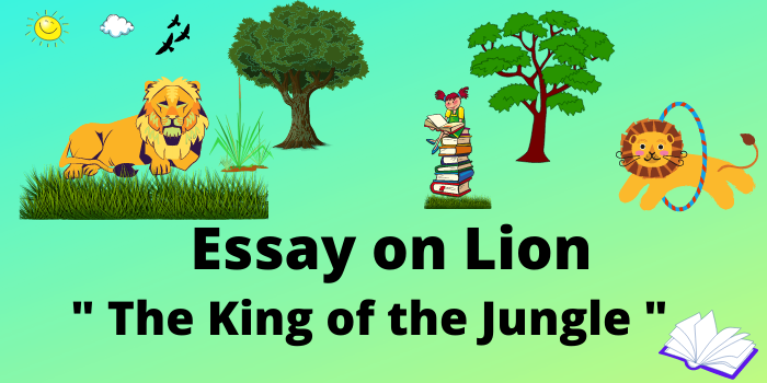 essay on lion in english