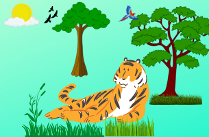 few lines about a tiger in english, 5 and 10 lines