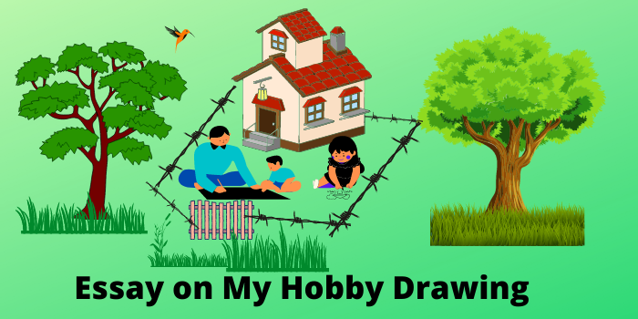 essay on my hobby drawing in English