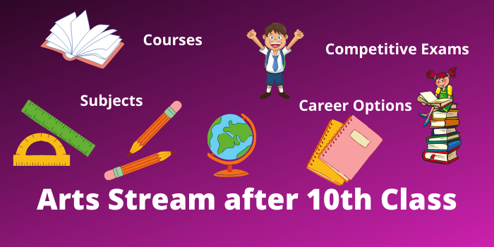 arts stream after 10th class