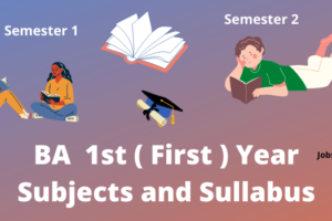 BA 1st year syllabus and subjects list