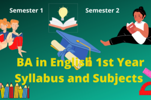 BA in English 1st year syllabus and subjects