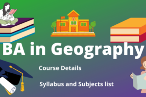 BA in Geography subjects and syllabus
